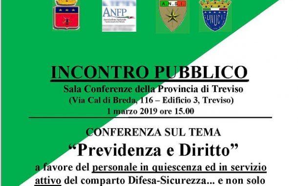 TREVISO, 1 MARZO 2019: CONFERENZA  SU