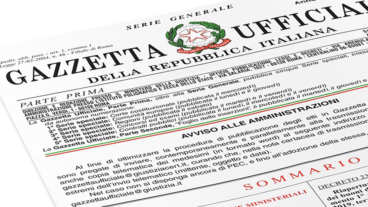 ADEGUAMENTO ISTAT: PUBBLICATO IN G.U. IL D.P.C.M.