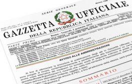 CORRETTIVO: PUBBLICATO IN GAZZETTA UFFICIALE